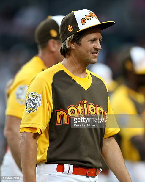 Tim Foreman looks on during the MLB AllStar Legends Celebrity game at Petco Park on Sunday July 10 2016 in San Diego California