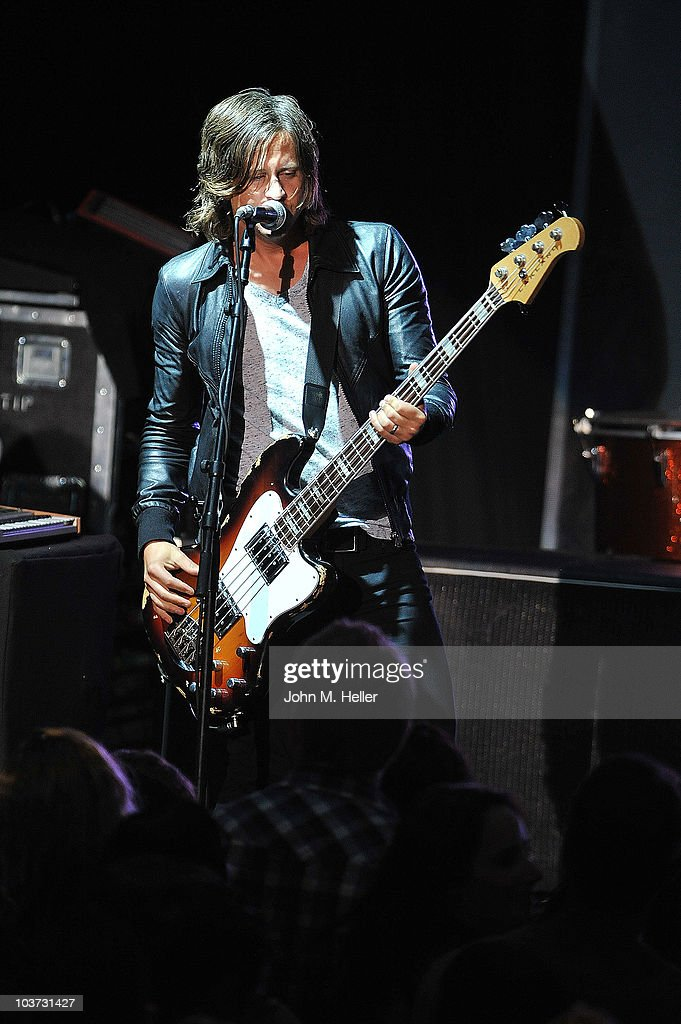 Tim Foreman of the group Switchfoot performs at the Greek Theater on August 29, 2010 in Los Angeles, California.