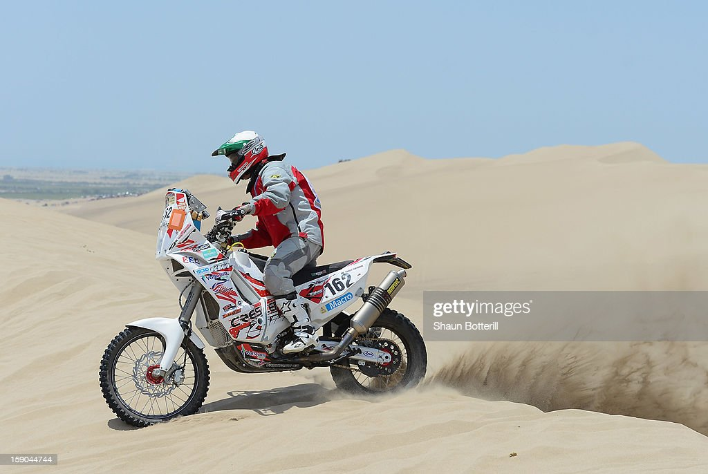 Tim Forman of team Front Row GB competes in the special stage on day one of the of the 2013 Dakar Rally on January 5, 2013 in Pisco, Peru.