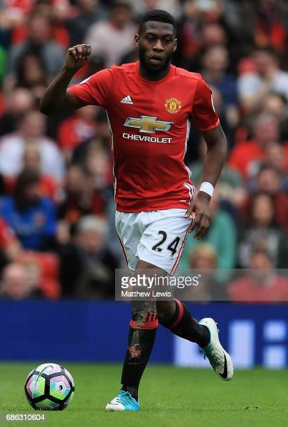 Tim FosuMensah of Manchester United in action during the Premier League match between Manchester United and Crystal Palace at Old Trafford on May 21...