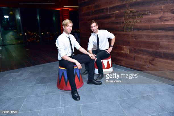 Tim Fraiser and Sean McGee attend American Copper Building's Skybridge party hosted by JDS Development at American Copper Building on October 19 2017...