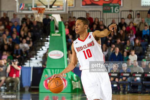 Tim Frazier of the Maine Red Claws directs the offense against the Canton Charge on December 28 2014 at the Portland Expo in Portland Maine NOTE TO...