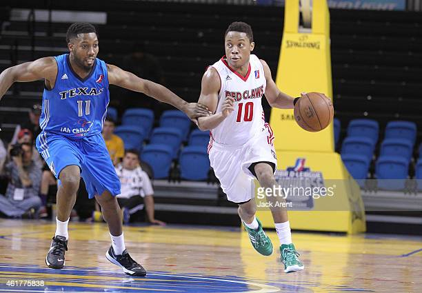Tim Frazier of the Maine Red Claws dribbles the ball against the Texas Legends of the during the 2015 NBA DLeague Showcase presented by SAMSUNG on...