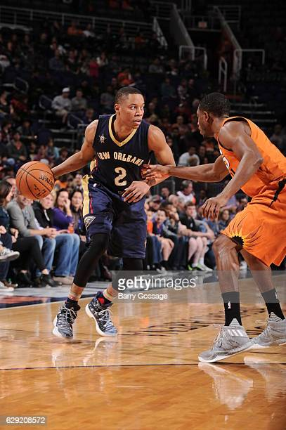 Tim Frazier of the New Orleans Pelicans handles the ball against the Phoenix Suns on December 11 2016 at Talking Stick Resort Arena in Phoenix...