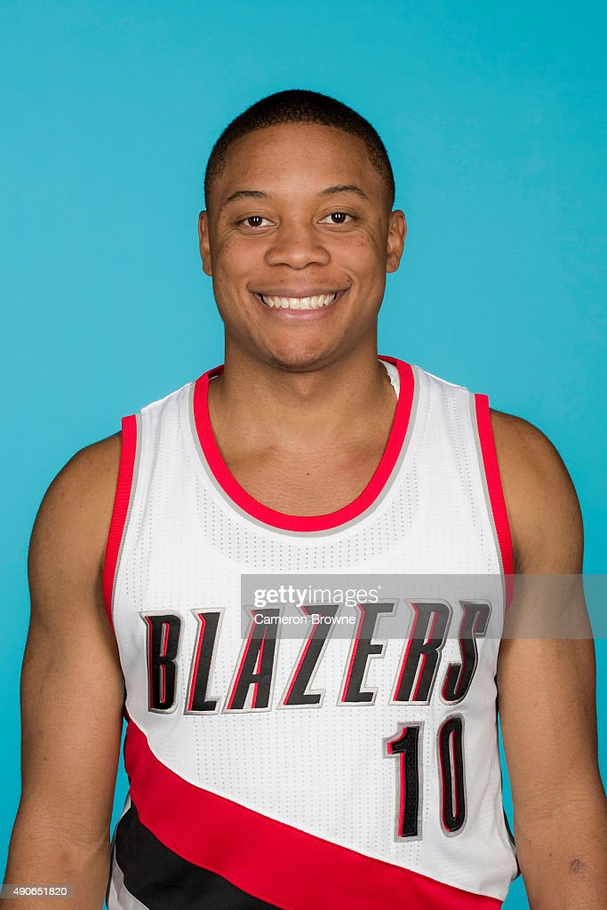 <a gi-track='captionPersonalityLinkClicked' href=/galleries/search?phrase=Tim+Frazier&family=editorial&specificpeople=6526834 ng-click='$event.stopPropagation()'>Tim Frazier</a> #10 of the Portland Trail Blazers poses for a head shot during media day on September 28, 2015 at the MODA Center Arena in Portland, Oregon.