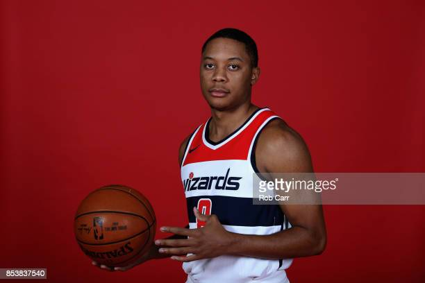Tim Frazier of the Washington Wizards poses during media day at Capital One Arena on September 25 2017 in Washington DC NOTE TO USER User expressly...