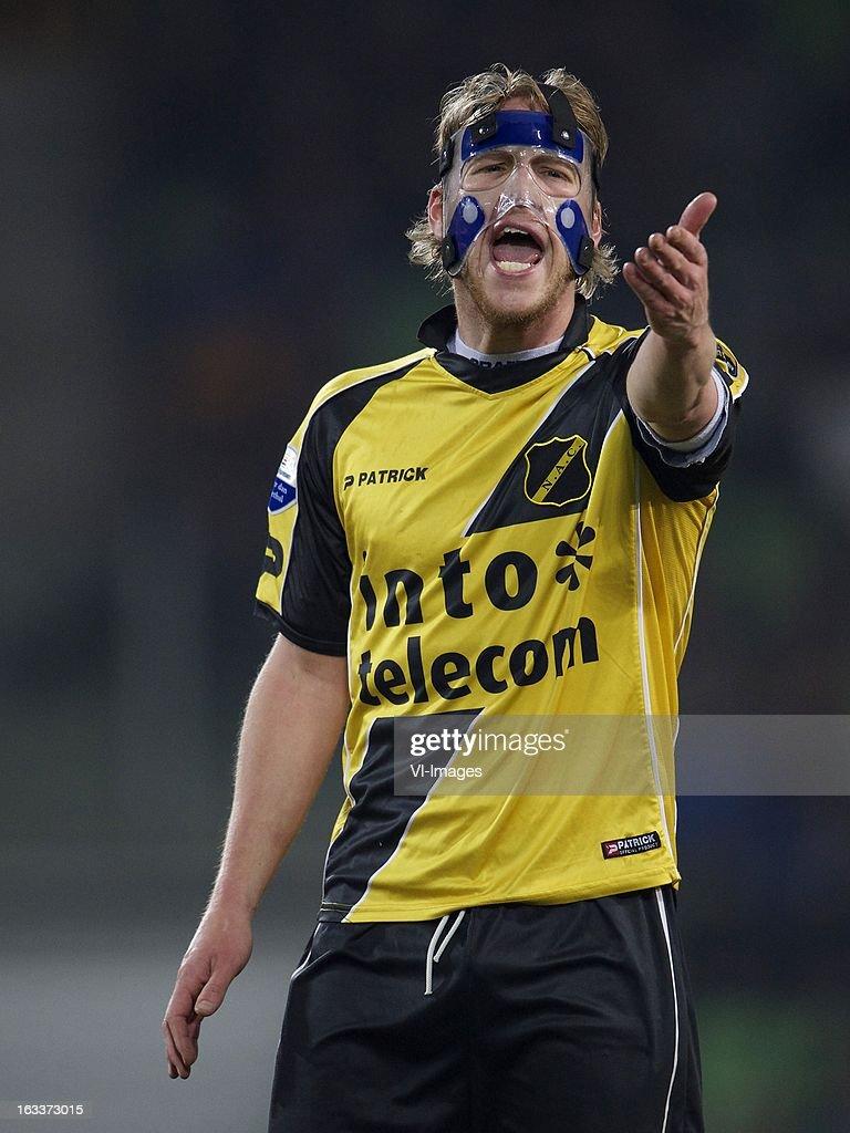 Tim Gilissen of NAC Breda during the Dutch Eredivisie match between FC Groningen and NAC Breda at the Euroborg on march 08, 2013 in Groningen, The Netherlands
