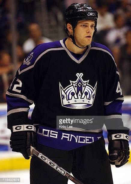Tim Gleason of the Los Angeles Kings during 40 victory over the Phoenix Coyotes at the Staples Center in Los Angeles Calif on Thursday January 5 2006