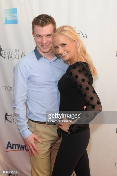 Tim Goebel and Nicole Bobek attend The 2013 Skating With The Stars Benefit Gala at Trump Rink at Central Park on April 8 2013 in New York City
