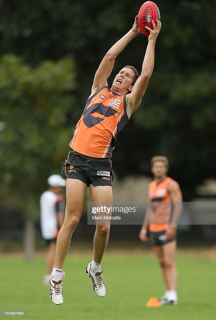 Tim Golds in action during a Greater Western Sydney Giants AFL pre-season training session at Lakeside Oval on November 28, 2012 in Sydney, Australia.