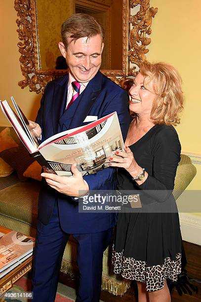 Tim Gosling and Elaine Paige attend Tim Gosling's book launch for his book 'Classic Contemporary The DNA of Furniture Design' at The Ritz on October...