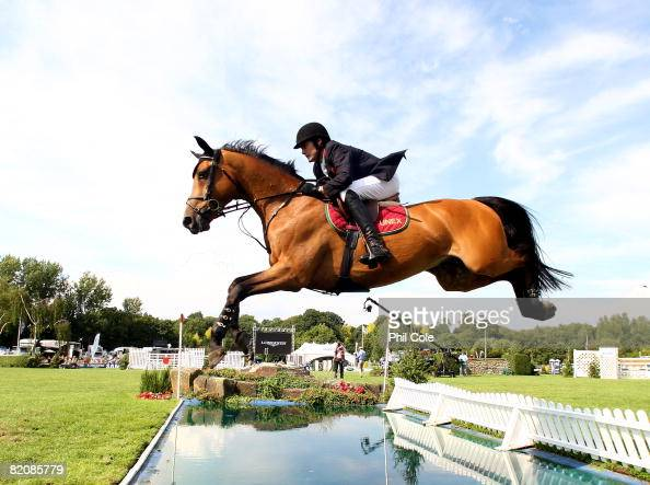 Tim Gredley of Great Britain riding Timo IV during the Longines King George V Gold Cup on July 27 in Hickstead England