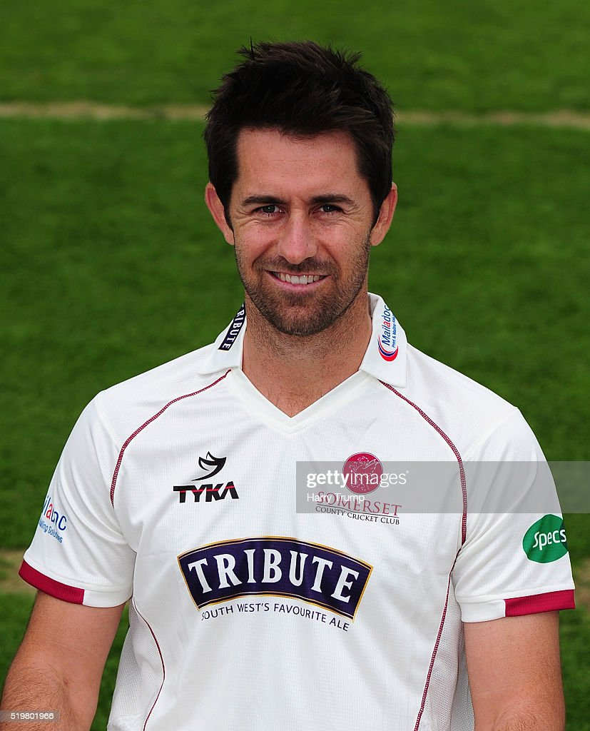 Tim Groenewald of Somerset during the Somerset CCC Photocall at the County Ground on April 8 2016 in Taunton England