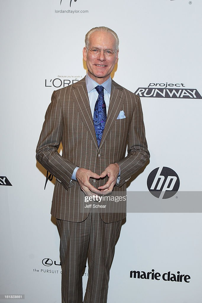 <a gi-track='captionPersonalityLinkClicked' href=/galleries/search?phrase=Tim+Gunn&family=editorial&specificpeople=696109 ng-click='$event.stopPropagation()'>Tim Gunn</a> attends the Project Runway Season 10 Wrap Party at Lord & Taylor on September 5, 2012 in New York City.