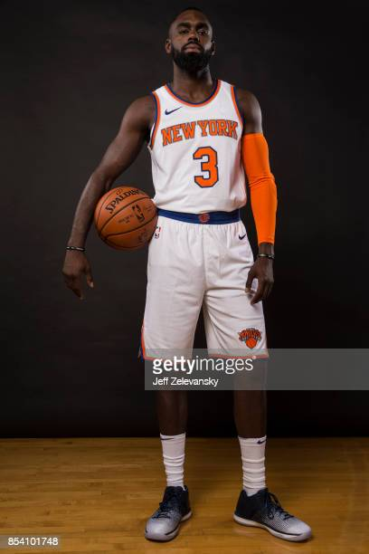 Tim Hardaway Jr #3 of the New York Knicks is photographed at New York Knicks Media Day on September 25 2017 in Greenburgh New York