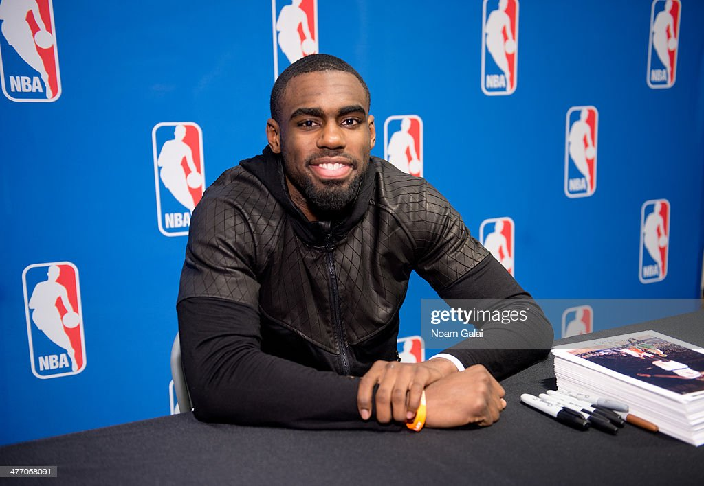 Tim Hardaway Jr. attends Forever 21 X NBA Collection launch event at Forever 21 Times Square Flagship Store on March 6, 2014 in New York City.