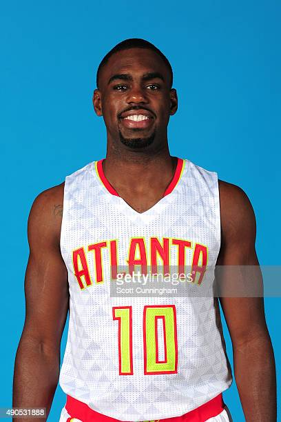 Tim Hardaway Jr of the Atlanta Hawks poses for a photo during media day on September 28 2015 at Philips Arena in Atlanta Georgia NOTE TO USER User...