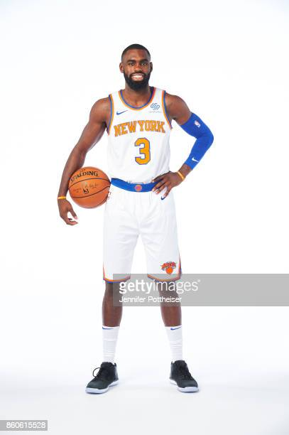 Tim Hardaway Jr of the New York Knicks poses for a portrait at the Knicks Practice Center on October 11 2017 in Tarrytown New York NOTE TO USER User...