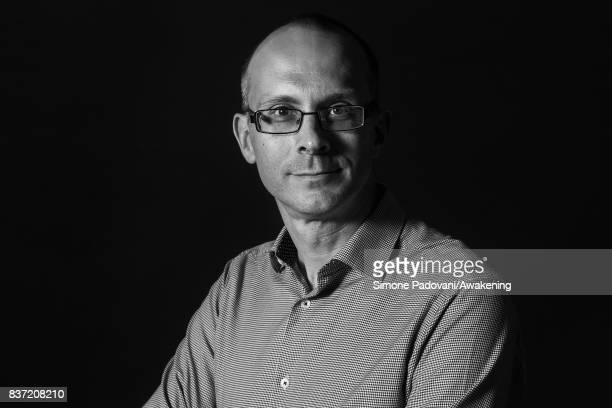 Tim Harford attend a photocall during the Edinburgh International Book Festival on August 22 2017 in Edinburgh Scotland
