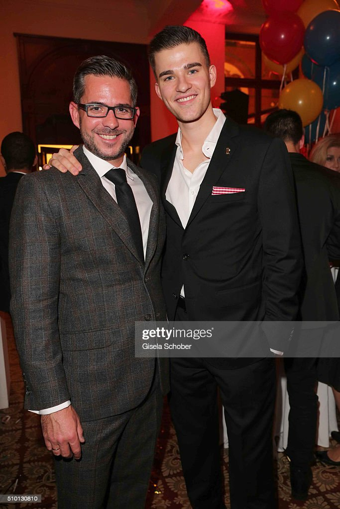 Tim Heidfeld and Patrick Moelleken during the Bild 'Place to B' Party at Borchardt during the 66th Berlinale International Film Festival Berlin on February 13, 2016 in Berlin, Germany.