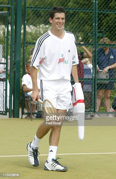 Tim Henman during Ariel Tennis Ace ID Day Celebrity Finals at Wimbledon Park Tennis Courts in London Great Britain
