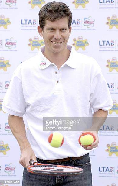 Tim Henman during Tim Henman Attends the 'Tennis For Schools' Initiative April 4 2006 at Grafton School in London Great Britain