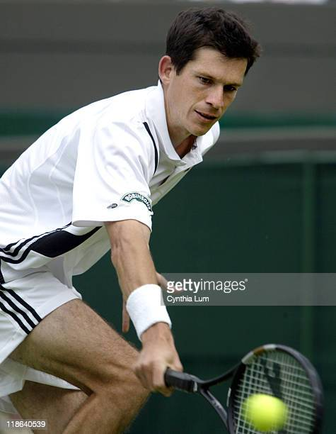 Tim Henman overcame loosing the first set and defeated Rubin Ramirez Hidalgo 46 76 64 62 in his opening round at the Wimbledon Championships