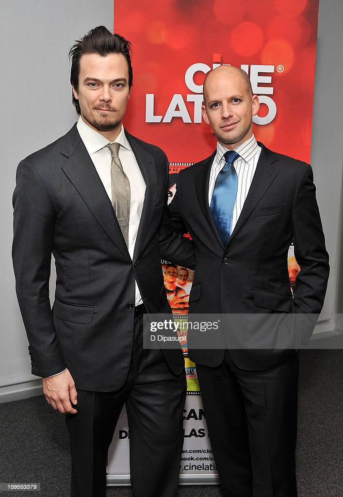 Tim Hobbs (L) and Ori Dov Gratch attend the 3rd annual Cinema Tropical awards at The New York Times Headquarters on January 15, 2013 in New York City.