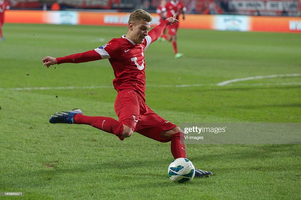 Tim Holscher of FC Twente during the Dutch Eredivisie match between FC Twente and Roda JC at the Grolsch stadium on April 6, 2013 in Enschede, The Netherlands