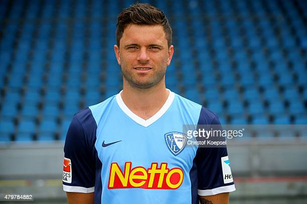 Tim Hoogland poses during the team presentation of VfL Bochum at Rewirpower Stadium on July 7 2015 in Bochum Germany