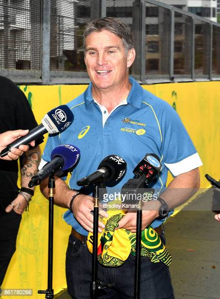 Tim Horan speaks during an ARU media opportunity on October 16 2017 in Brisbane Australia