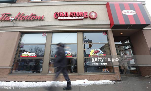 Tim Hortons announced today that it's pulling the plug on its deluxe ice cream shops Cold Stone Creamery Toronto February 20 2014