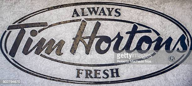 Tim Hortons sign or logoTim Hortons Inc known internationally as Tim Hortons Cafe and Bake Shop is a Canadian multinational fast food restaurant...