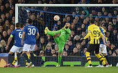 Tim Howard of Everton juggles with the ball before Sekou Sanogo Junior of BSC Young Boys scored the opening goal during the UEFA Europa League Round...