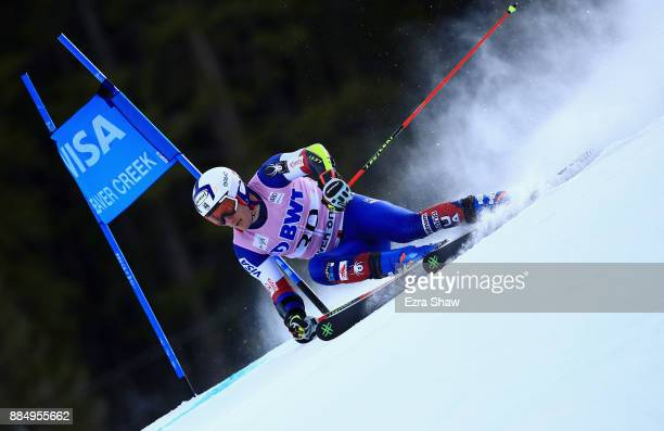 Tim Jitloff of the United States competes in the first run of the Birds of Prey World Cup Giant Slalom race on December 3 2017 in Beaver Creek...