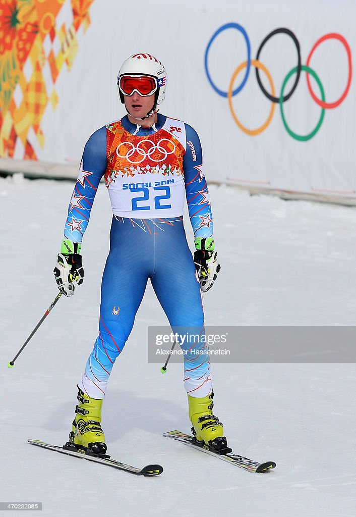 <a gi-track='captionPersonalityLinkClicked' href=/galleries/search?phrase=Tim+Jitloff&family=editorial&specificpeople=2500888 ng-click='$event.stopPropagation()'>Tim Jitloff</a> of the United States reacts during the Alpine Skiing Men's Giant Slalom on day 12 of the Sochi 2014 Winter Olympics at Rosa Khutor Alpine Center on February 19, 2014 in Sochi, Russia.