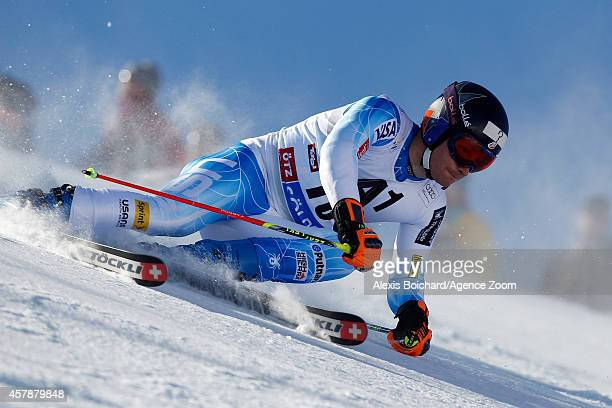 Tim Jitloff of the USA competes during the Audi FIS Alpine Ski World Cup Men's Giant Slalom on October 26 2014 in Soelden Austria