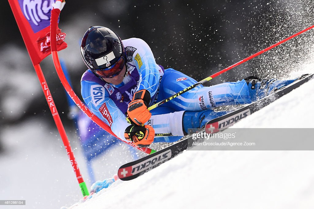 <a gi-track='captionPersonalityLinkClicked' href=/galleries/search?phrase=Tim+Jitloff&family=editorial&specificpeople=2500888 ng-click='$event.stopPropagation()'>Tim Jitloff</a> of the USA competes during the Audi FIS Alpine Ski World Cup Men's Giant Slalom on January 10, 2015 in Adelboden, Switzerland.