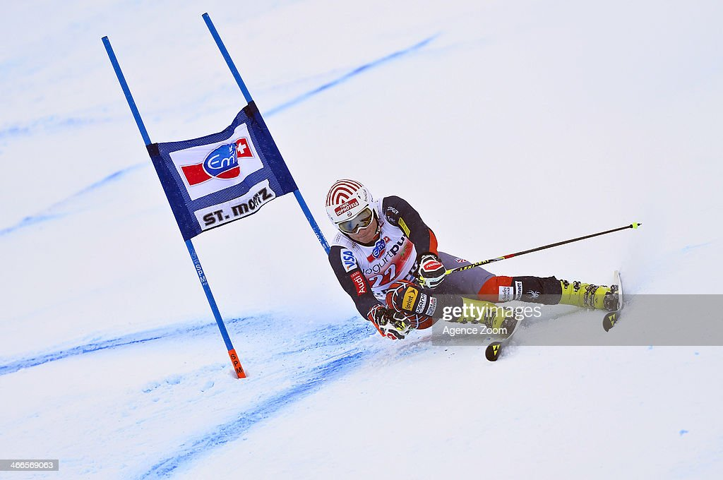 <a gi-track='captionPersonalityLinkClicked' href=/galleries/search?phrase=Tim+Jitloff&family=editorial&specificpeople=2500888 ng-click='$event.stopPropagation()'>Tim Jitloff</a> of the USA competes during the Audi FIS Alpine Ski World Cup Men's Giant Slalom on February 02, 2014 in St. Moritz, Switzerland.