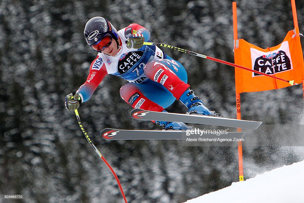 <a gi-track='captionPersonalityLinkClicked' href=/galleries/search?phrase=Tim+Jitloff&family=editorial&specificpeople=2500888 ng-click='$event.stopPropagation()'>Tim Jitloff</a> of the USA competes during the Audi FIS Alpine Ski World Cup Men's Downhill Training on January 14, 2016 in Wengen, Switzerland.