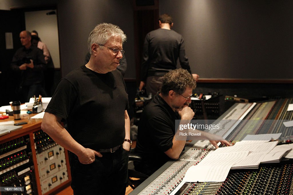 THE NEIGHBORS - Tim Jo, Toks Olagundoye and Simon Templeman record with Academy Award-winning composer Alan Menken for two songs to be used in the episode entitled, 'Sing Like a Larry Bird' on 'The Neighbors,' WEDNESDAY, MARCH 13 (8:30-9:00 p.m., ET) on ABC. MENKEN