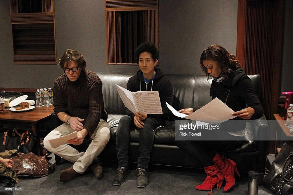 THE NEIGHBORS - Tim Jo, Toks Olagundoye and Simon Templeman record with Academy Award-winning composer Alan Menken for two songs to be used in the episode entitled, 'Sing Like a Larry Bird' on 'The Neighbors,' WEDNESDAY, MARCH 13 (8:30-9:00 p.m., ET) on ABC. OLAGUNDOYE