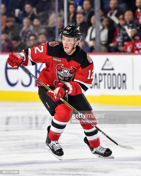 Tim Kennedy of the Binghamton Devils skates against the Laval Rocket during the AHL game at Place Bell on October 13 2017 in Laval Quebec Canada The...