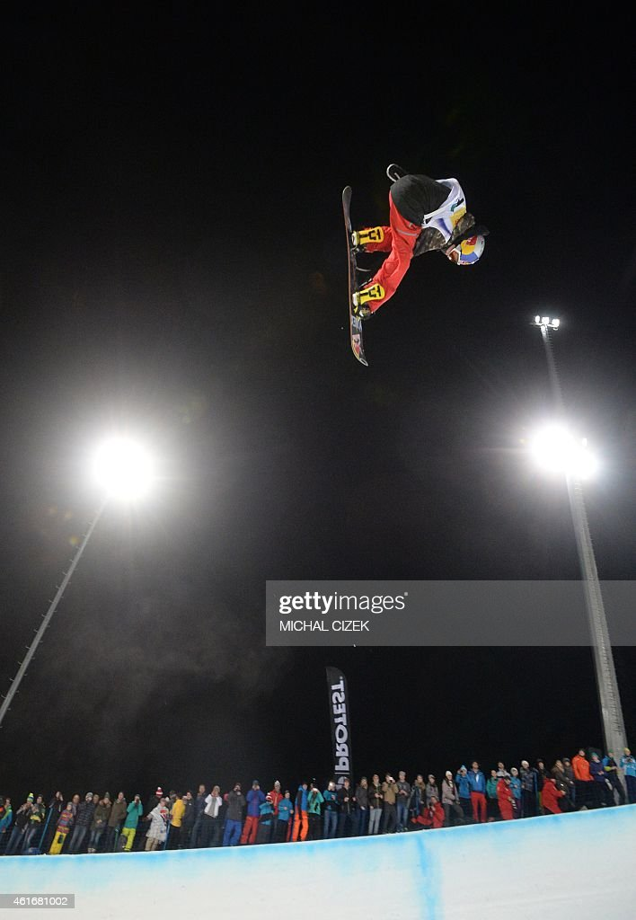 Tim Kevin Ravnjak of Slovenia competes during the Men's Snowboard Halfpipe competition of the FIS Freestyle and Snowboarding World Ski Championships 2015 in Kreischberg, Austria on January 17, 2015. Australia's Scotty James won gold ahead of the Yiwei Zhang of China and <a gi-track='captionPersonalityLinkClicked' href=/galleries/search?phrase=Tim-Kevin+Ravnjak&family=editorial&specificpeople=8797275 ng-click='$event.stopPropagation()'>Tim-Kevin Ravnjak</a> of Slovenia.