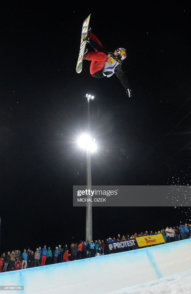 Tim Kevin Ravnjak of Slovenia competes during the Men's Snowboard Halfpipe competition of the FIS Freestyle and Snowboarding World Ski Championships 2015 in Kreischberg, Austria on January 17, 2015. Australia's Scotty James won gold ahead of Yiwei Zhang of China and <a gi-track='captionPersonalityLinkClicked' href=/galleries/search?phrase=Tim-Kevin+Ravnjak&family=editorial&specificpeople=8797275 ng-click='$event.stopPropagation()'>Tim-Kevin Ravnjak</a> of Slovenia.