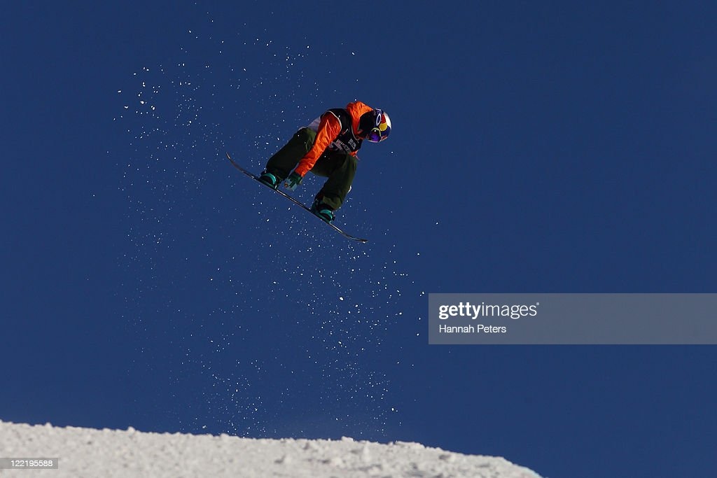 Tim Kevin Ravnjak of Slovakia competes in the Snowboard Half Pipe Qualifier on day 15 of the Winter Games NZ at Cardrona Alpine Resort on August 27, 2011 in Wanaka, New Zealand.