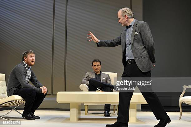 Tim Key as Yvan Rufus Sewell as Serge and Paul Ritter as Marc in Yasmina Reza's Art directed by Matthew Warchus at The Old Vic Theatre on December 16...