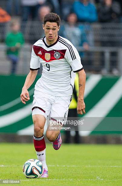 Tim Kleindienst of Germany in action during the international friendly match between U20 Germany and U20 Italy on September 3 2014 in Elversberg...