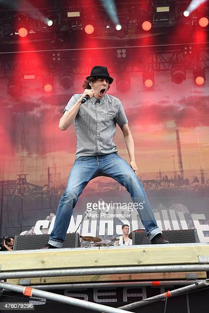 Tim Kleinrensing of Sondaschule performs on stage during the second day of 'Rock am Ring' at the Flugplatz Mendig on June 6 2015 in Mendig Germany