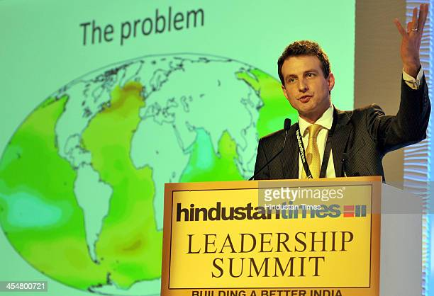 Tim Kruger of Oxford Martine School addressing the session on Sustainability Whats Changing the World during the Hindustan Times Leadership Summit on...